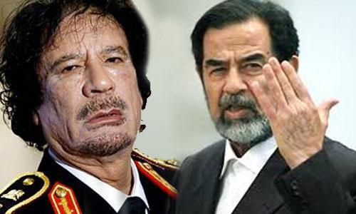 الزعيم اليبي والرئيس العراقي