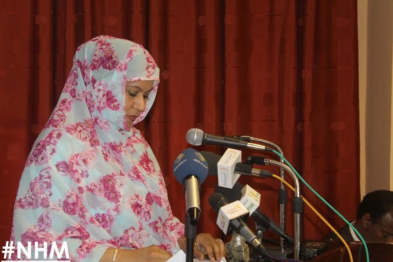الناها منت مكانس  وزيرة التجارة والصناعة الموريتانية