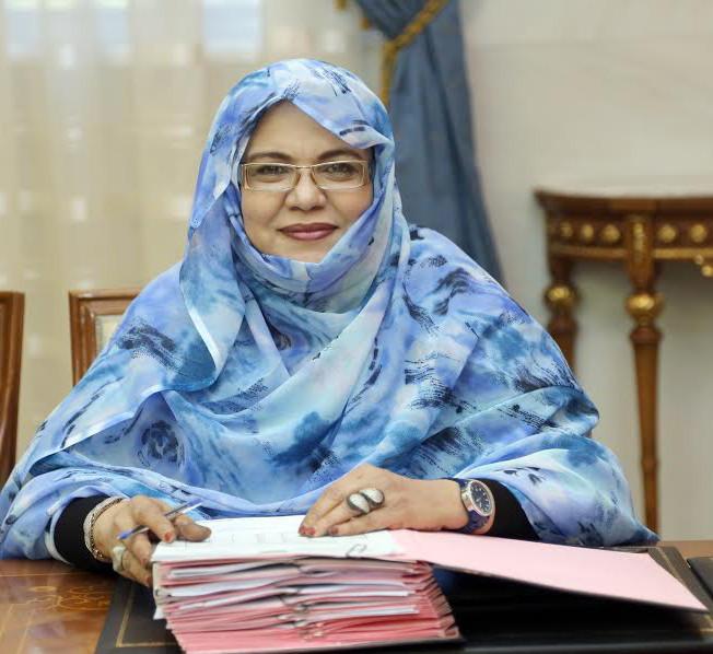 ميمونه محمد التقي وزيرة الشؤون الاجتماعية
