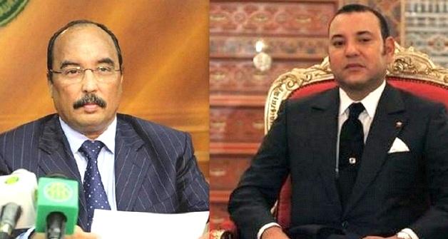 صورة مركبة لملك المغرب محمد السادس ورئيس موريتانيا محمد ولد عبد العزيز