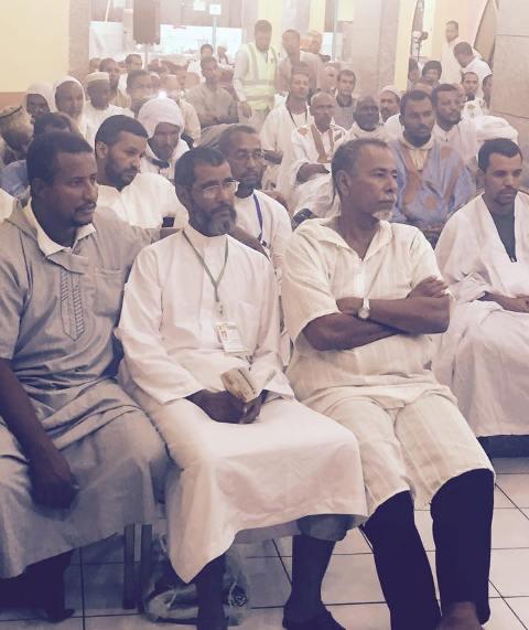 الحجاج الموريتانيون خلال أدائهم مناسك الحج الموسم الماضي
