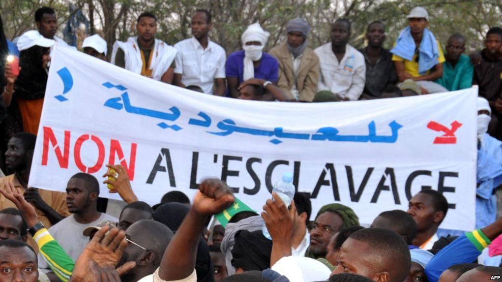 صور لمظاهرة مناهضة للعبودية